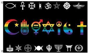 Coexist Rainbow Flag (3' X 5')