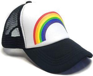 Vintage Foam Mesh  Cap with Rainbow, Adjustable Snapback