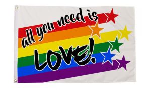 All You Need is Love Flag (3' X 5')