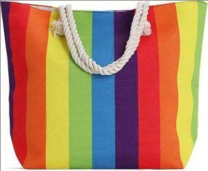 Rainbow Fashion Beach Tote
