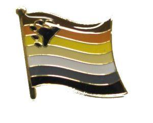 Bear Flag Enamel Lapel Pin