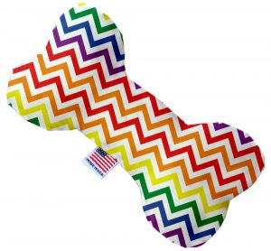 Rainbow Plush Dog Toy