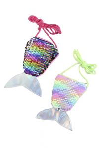 Sequins Rainbow Mermaid Tail Change Bag