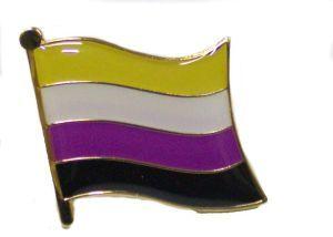 Non Binary Flag Enamel Lapel Pin
