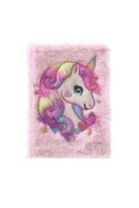 Fuzzy Rainbow Unicorn Diary- Pink