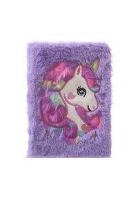 Fuzzy Rainbow Unicorn Diary- Purple