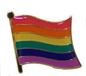 Rainbow Flag Enamel Lapel Pin