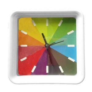 Square Rainbow Clock