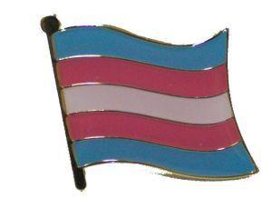 Transgender Flag Enamel Lapel Pin