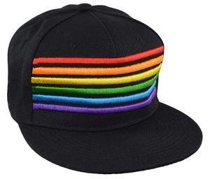 Rainbow Striped Snapback