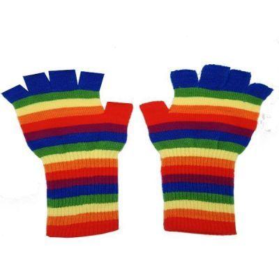 Adult Rainbow Fingerless Glove