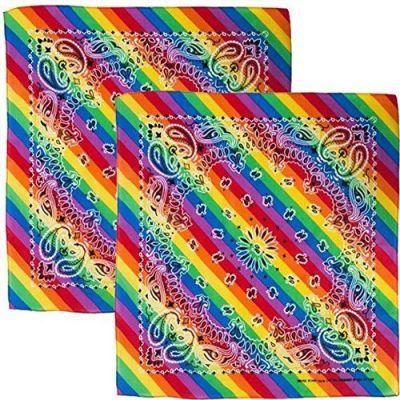 Rainbow Paisley Bandana