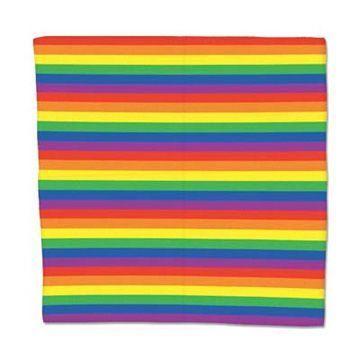 Rainbow Striped Bandana