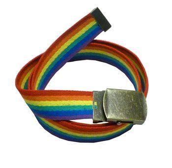 Rainbow Pride Canvas Web Waist Belt