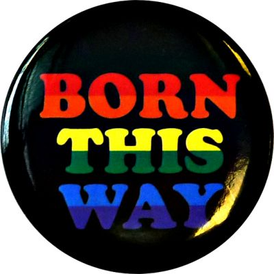 Born This Way Rainbow Button