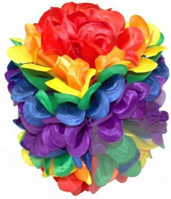 Rainbow Floral Hairclip