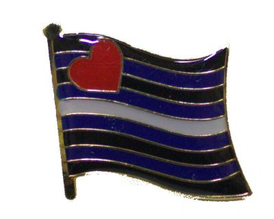 Leather Flag Enamel Lapel Pin