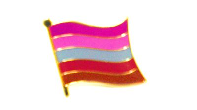 Lesbian Flag Enamel Lapel Pin